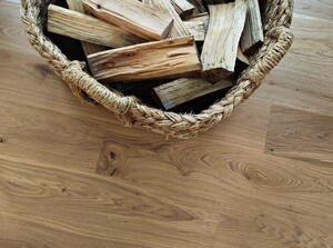 Tarkett Heritage Oak Blonde Deep-brushed, hard-wax oiled