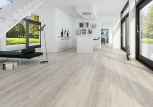 Moland Vinyl cork+ wideplank Classic White Oak