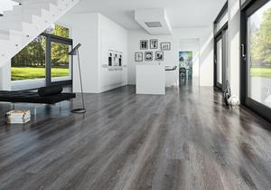 Moland Vinyl cork+ wideplank Dark oak