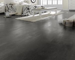 Laminate floor tiles - Black - Oxide Negro 601 x 1183 mm.
