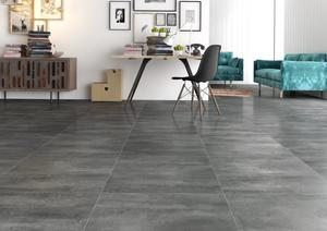 Laminate floor tiles - Cendre 601 x 1183 mm.