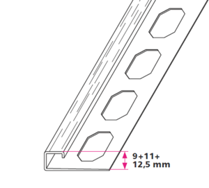 Rivet profiles - square closure - Brushed stainless steel