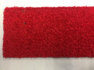 Eton Red mat runner with rubber edge