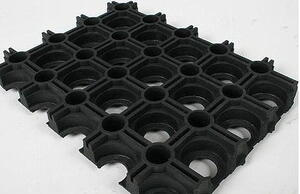 Ring mat Natural rubber Black 18 mm