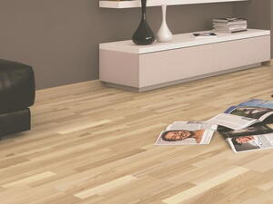 Wooden floor - Ash 3-rod Slat, White matt