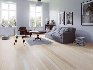 Wooden Flooring - Ask Plank Diamond, Brushed White Lacquer