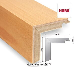 Staircase profiles for parquet plank floor 13.5 mm with bioTec surface