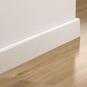 Pergo hög vit skirting rak, 14x77x2400 mm.