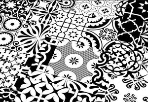 Quadraic Black and White Mat