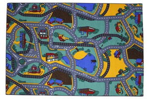 Carpet with road surfaces - Playtime