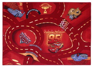 Børnetæppe - Cars 10 World of cars red
