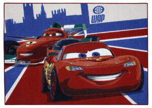 Børnetæppe - Cars 26 Mc Queen & Francesco