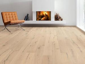 Haro plank floor - Oak Puro white Alabama brushed 2V NaturaLin