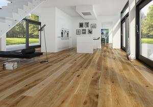 Moland Molaloc+ Rustica Wideplank - Olie, børstet living - 1830 mm.