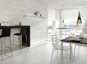 Laminate floor tiles - White - Oxide Blanco 394 x 1179 mm.