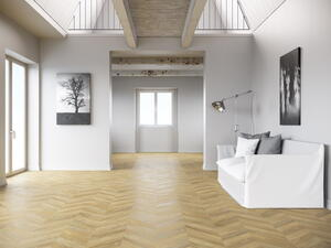 French herringbone laminate flooring - Masterpiece Boho