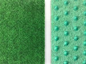 Cricket green needle felt with studs (Grass)
