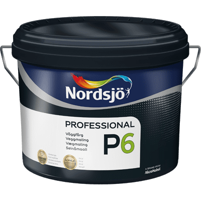 Afholte Professional P6 diffusionsåben maling - Tilbud: 519,00 DKK,- LU-94