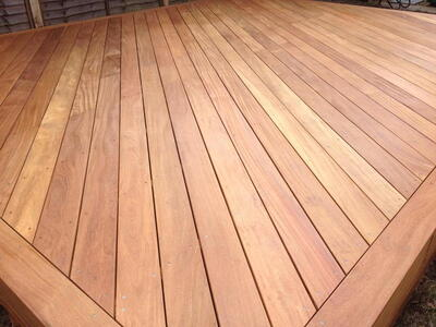 Cumaru terrace boards smooth / smooth 20x140 mm.