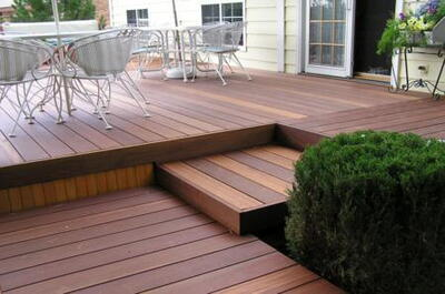 Red Balau 21x145 mm. patio boards smooth