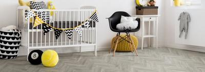 BerryAlloc Chateau herringbone, Java Light Gray