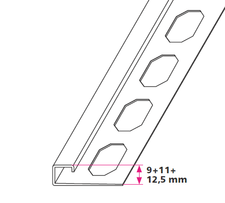 Rivet profiles - square end - Blank stainless steel