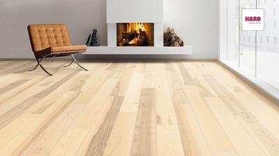 Ash plank floor white, brushed - REST PARTY