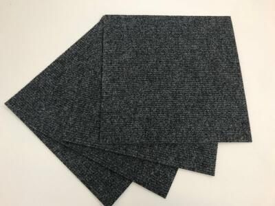 Self-adhesive Rib carpet tile - Mercedes Gray