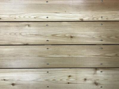 Larch patio boards 28x120 mm.