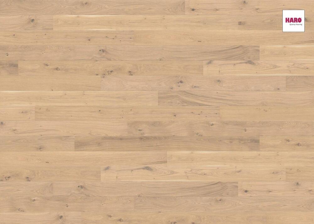 Massivt Eg plankegulv hvid mat lak børstet - RESTPARTI - Tilbud: 219,00 DKK,- JS68