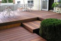 Red Balau 25x145 mm. patio boards smooth / grooved