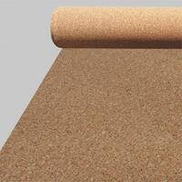 Acoustic cork base 3 mm. with vapor barrier