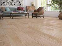 Wooden Flooring - Oak Plank Harmony, Brushed White Natural Oil