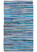 Kreatex cloth rug - Light blue