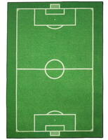 Rug with soccer field 95x133 cm.