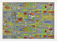 Carpet with road surfaces - Play City