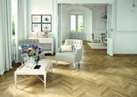 French herringbone laminate flooring - Masterpiece natural